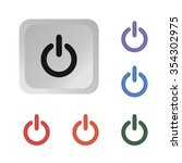 turn on off button power icon... | Shutterstock .eps vector #354302975