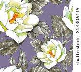 summer garden blooming flowers... | Shutterstock . vector #354306119