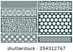 decor pattern collections  | Shutterstock .eps vector #354312767