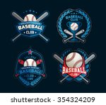 baseball badges set  sports... | Shutterstock .eps vector #354324209