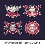 baseball badges set  sports... | Shutterstock .eps vector #354324245