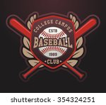 baseball logo template for... | Shutterstock .eps vector #354324251