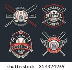 baseball badge logo design... | Shutterstock .eps vector #354324269
