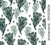 seamless floral pattern. hand... | Shutterstock .eps vector #354325634