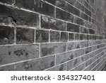 brick wall perspective | Shutterstock . vector #354327401