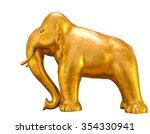 Golden Elephant Standing...