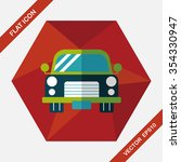 transportation car flat icon... | Shutterstock .eps vector #354330947