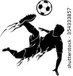 soccer jump kick football...   Shutterstock .eps vector #354333857