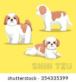 Dog Shih Tzu Cartoon Vector...