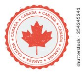 grunge rubber stamp with canada ... | Shutterstock .eps vector #354345341