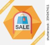 shopping store sale sign flat... | Shutterstock .eps vector #354347411