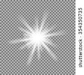 vector glowing light burst with ...   Shutterstock .eps vector #354350735