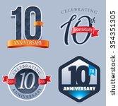 10 years anniversary logo | Shutterstock .eps vector #354351305