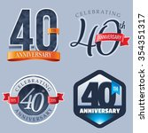 40 years anniversary logo | Shutterstock .eps vector #354351317