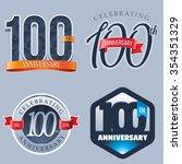 100 years anniversary logo   Shutterstock .eps vector #354351329