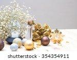christmas decoration  golden... | Shutterstock . vector #354354911