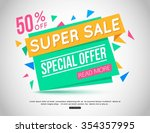 sale banner design. sale banner ... | Shutterstock .eps vector #354357995