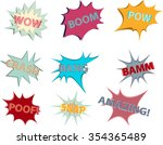 comic blow up vector icon set...