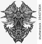 abstraction of the skull. art... | Shutterstock .eps vector #354371834