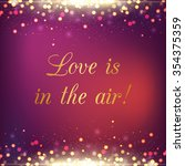 love is in the air purple... | Shutterstock .eps vector #354375359