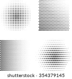 set of abstract halftone.  | Shutterstock . vector #354379145