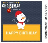 snowman cartoon character... | Shutterstock .eps vector #354379454