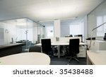 modern office interior   photo     Shutterstock . vector #35438488