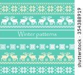 winter patterns | Shutterstock .eps vector #354388919