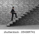 concept 3d man or  businessman... | Shutterstock . vector #354389741