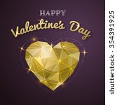 happy valentines day card.... | Shutterstock .eps vector #354391925