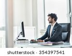 side view of a business partner ... | Shutterstock . vector #354397541