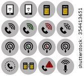 phone signal and communications ...   Shutterstock .eps vector #354413651