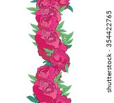 vector seamless floral garland... | Shutterstock .eps vector #354422765