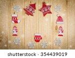 wooden christmas figurines... | Shutterstock . vector #354439019