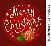 christmas ball and fir branches ... | Shutterstock . vector #354440381
