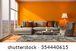 interior with sofa. 3d... | Shutterstock . vector #354440615