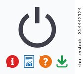 power sign icon. switch on... | Shutterstock .eps vector #354442124