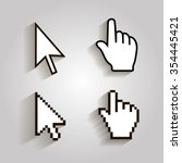 Pixel Cursors Icons Mouse Hand...
