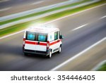 Small photo of Ambulance van on highway
