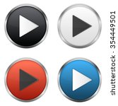 metallic play buttons set | Shutterstock . vector #354449501
