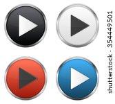 metallic play buttons set | Shutterstock . vector #354449501