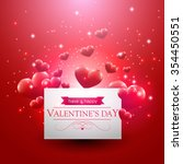valentines day card with... | Shutterstock .eps vector #354450551