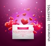 valentines day card with... | Shutterstock .eps vector #354457901