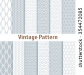 set of nine seamless pattern in ... | Shutterstock . vector #354472085