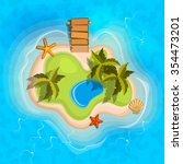cartoon tropical exotic island... | Shutterstock .eps vector #354473201