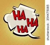 comic bubble head laughter ha... | Shutterstock .eps vector #354475085