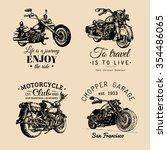 vector motorcycles... | Shutterstock .eps vector #354486065