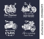 vector motorcycles logos set.... | Shutterstock .eps vector #354486095