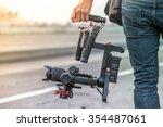 videographer with gimball