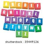 alphabet   Shutterstock .eps vector #35449126